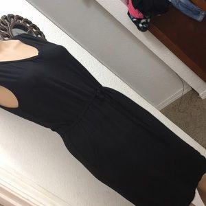 Womens S Simply Styled basic black dress EUC